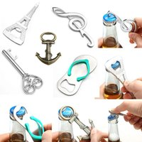 glass soda bottle - 2Pcs Tower Music Symbol Anchor Heartshape Beer Bottle Can Opener Beverage Wine Drink Soda Glass Cap Bar Tool