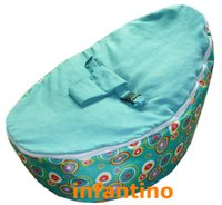 Wholesale Turqoise blue baby bean bag chair waterproof base kids toddlers beanbag sofa