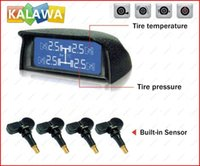 Wholesale one set TPMS Built in Tire Pressure Monitoring System with Built in sensors LCD Monitor for any cars GGG FREESHIPPING
