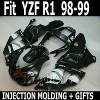 fairing r1 - Best quality Injection molding for YAMAHA R1 fairing kit black white YZF R1 fairings RT46