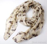 Wholesale 100pcs Size X100CM Milu deer fawn totem lady scarf shawls sunproof women silk scarf shawl Y99