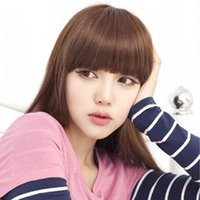 Wholesale Fashion Gorgeous Natural Clip on Front Neat Bang Fringe Hair Extensions Multi Colors