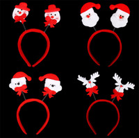 Wholesale 320pcs Promotion Christmas Gifts Toy Christmas Hair Hoop Santa Claus Snowman Deer Beer Headband Christmas Decoration Cheap Price CW0346