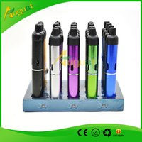 Wholesale one click N vape sneak vape portable Herbal bong glass water pipe Vaporizer weed with built in Wind Proof Torch Lighter