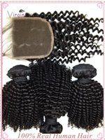 best hair dye for weave - Kinky Curly A Best Peruvian Hair Extensions Bulk Hair Human Hair Weaves with Closure for Ladies Can be Dye