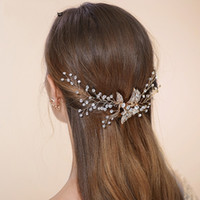 Wholesale Stunning Silver Rhinestone Wedding Hair Jewelry Comb Bridal Vintage Headpiece Accessories Handmade
