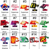 band halloween costumes - 15 Superhero cape CAPE MASK arm bands cm back Super Hero Costume for Children Halloween Party Costumes for Kids Children s Costume