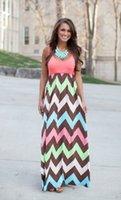 floor length maxi dress - New Long Maxi Dress Chevron Curvy Floor Length Dress Best Day Ever Tank Chevron Curvy Vestidos de Formatura DS