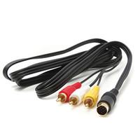 audio bit - Audio AV RCA Cable Cord Black For Sega Saturn Retro Bit Pin