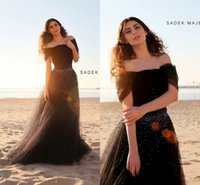 Cheap Custom Made 2015 Abaya in Dubai Arabic Kaftan Evening Dresses Brown Off Shoulder Stunning Sequined A Line Tulle Formal Party Grown