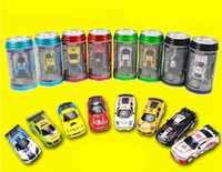 Wholesale 48set New Mini Coke Can RC Radio Speed Remote Control CH Micro Racing Car Hobby Vehicle fun game kids baby Toys christmas Gift Free shippin