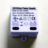 Wholesale 440PCS DC12V mA W Mini Ultra thin Compact size LED Driver power supply AC DC Adapter