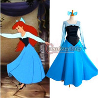 ariel little mermaid costume adult - Custom made The Little Mermaid Princess Ariel Dress sleeping beauty Cosplay adult Costume factory direct sale