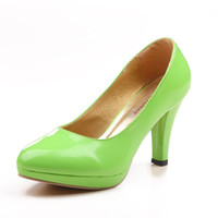 ladies shoes - Green inch High Heels Wedding Shoes Lady Formal Dress Shoes Women s Fashion Shoes DY883 A1 NO
