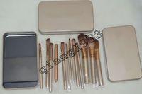 Cheap Factory Direct! 100 pcs lot Makeup Tools Brushes Nude 12 piece Professional Brush sets Iron box