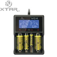 Wholesale Original XTAR VC4 charger Universal LCD Screen Display USB Ni MH Li ion Battery Battery Charger