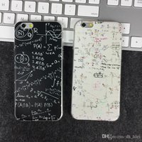 apple iphone problem - Case For Apple Iphone s plus tpu ultrathin mathematical problem soft simple unique stylish cell phone cases phone protection OPP bag