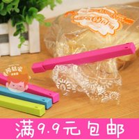 Wholesale Candy colored bag sealing food sealing clip food fresh snack Plastic moisture proof sealing clamp installed
