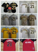 throwback jerseys - 2015 New Pittsburgh Pirates Roberto Clemente Jersey Cool Base Throwback Jerseys Stitched Accept Mix Orders