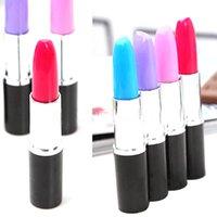 Wholesale 15pcs set Lipstick ballpoint pen realistic fashion girls jewelry cute lady favor office stationery set