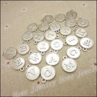 alphabet necklaces - Vintage Charms MIX letter alphabet Pendant Antique silver bronze Fit Bracelets Necklace DIY Metal Jewelry Making