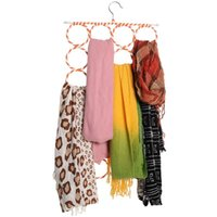 Wholesale Holes Foldable Scarf Holder Scarf Hangers Scarf Organizer pieces