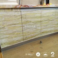 art marble furniture - Marble Self adhesive wall paper PVC wallpaper Bathroom Kitchen Marble Furniture innovative waterproof Refurbished wall sticker