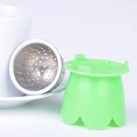 Wholesale New Arrival Creative Tea Filter Stainless Steel Food grade Tea Leaf Strainer Herbal Spice InfuserFY JJ1002W Y5