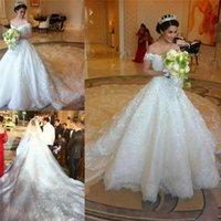 vestido de novia - 2015 Saudi Arabia Luxury Wedding Dresses Sexy Off the shoulder Beaded Lace Appliqued Vintage Church Bridal Gowns Vestido De Novia new