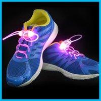 Cheap 2016 LED Flashing shoe laces Fiber Optic Shoelace Luminous Shoe Laces Light Up Shoes lace 2pcs=1pair