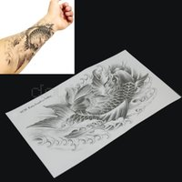 Cheap Wholesale-Stylish 3D Carp Graphic Arm Leg Body Art Temporary Tattoo Stickers Removable