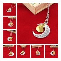 Wholesale 2016 Hot Styles I Love You To The Moon and Back Necklace Lobster Clasp Pendant Necklaces