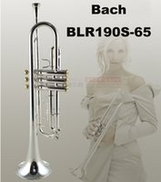 Wholesale New Bach Trumpet LR190S Drop bB adjustable Trumpet instrument Varnish coating Phosphor98 copper Trumpet