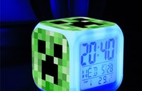 Wholesale My World Minecraft coolie afraid of small alarm clock Desk Table Clocks