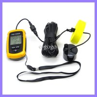 Wholesale New Wired Portable Sonar Sensor Fish Finder Alarm M Depth Capturing Transducer Waterproof