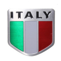 Cheap 2015 New Auto Alloy Metal 3D Emblem Badge Racing Sports Decals Sticker for ITALY Italian Flag order<$18no track