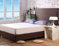 al por mayor topper reina--Al por mayor libre caliente del envío del color sólido colchón Topper cama Sábana ajustable para colchón cubierta FM008