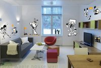 baseball wall decor - Golf Basketball Baseball Rugby Robot Wall Stickers Home Decor Cartoon Kids Pegatinas Enfeites Para A Casa Wall Art