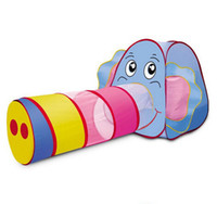 baby elephant games - Cartoon elephant baby crawl tunnel tube baby toys for children play children s tent marine ball game house