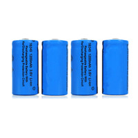 Wholesale 4pcs mAh V CR123A Li ion Rechargeable Battery for mobile power Cameras camcorders laptops light torch