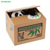 Wholesale Panda Coin Bank Automated Steal Coin Piggy Bank Money Saving Box Moneybox For Kids Gifts