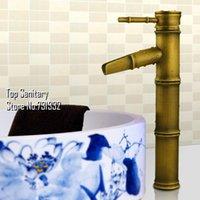 bamboo basin faucet - TOP Bathroom Bamboo basin sink Mixer surface Antique bronze Vintage faucet Lavabo tap spout hansgrohe cozinha torneira banheiro