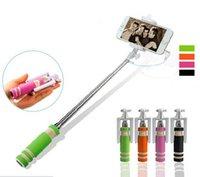 Wholesale 1 Wired Selfie Stick Handheld Monopod Built in Shutter Extendable Selfi Self Stick Pocket Autodyne Artifact Rod