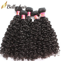 Wholesale 100 Malaysian Human Hair Extensions Double Weft Kinky Curly Unprocessed Hair Weave Mix length quot quot Bella Hair
