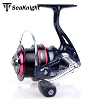 Wholesale 2015 New Seaknight Big Spool Long casting Spinning fishing reel with Double Main Bearings Drag System For carp feeder fishing