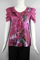 silk blouses for women - Silk Spandex beading women blouses for summer large size