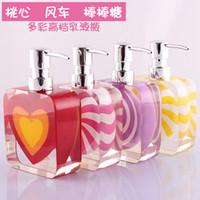 Wholesale Hand washing liquid bottle resin emulsion bottles of Europe type emulsion bottles of shower gel shampoo bottles