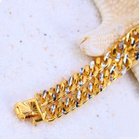 Wholesale Limited mm Bracelets Not Fade Men s New Arrival Top Fashion Rushed Direct Selling Fine Jewelry k Gold Plated Chirstmas