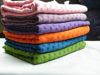 Wholesale 63x181cm Factory Direct Sale Durable Non Slip Yoga Towel Mats Fitness Exercise Blanket Silicone Yoga Towel