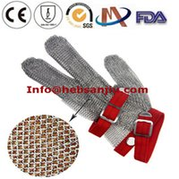 Wholesale Metal Mesh Glove Ring Mesh Glove Hand Wear Safety Hand Protection Wear PPE Personal Protective Butcher Tools Equipment glove Stainless stell